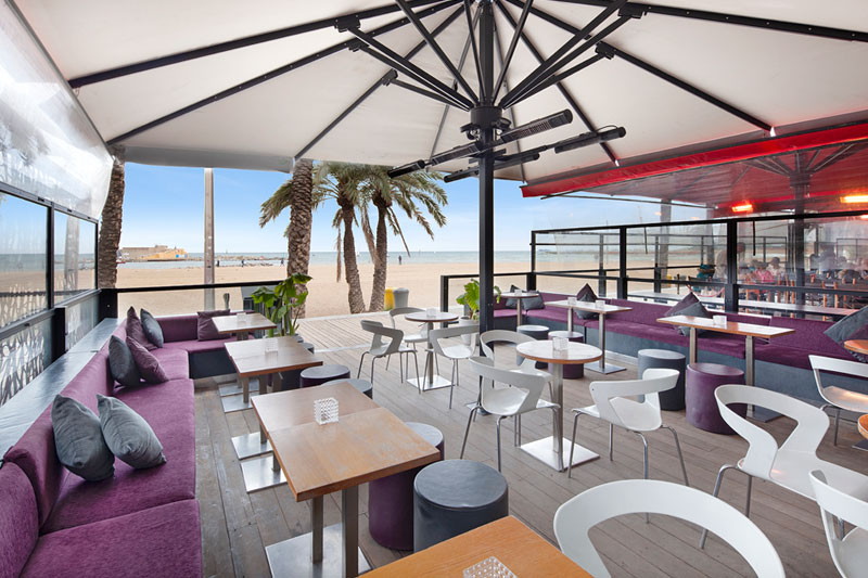 Bar terraza Icebarcelona ('Hot bar')