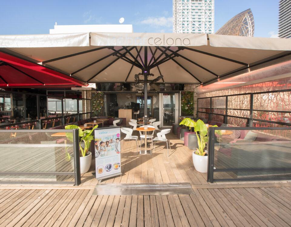 """Bar - terraza """"Hot bar"""""""